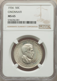 1936 50C Cincinnati PDS Set MS64 to MS65 NGC. The set includes the dates: 1936 MS65; 1936-D MS65; and a 1936-S MS64. W...