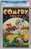 Golden Age (1938-1955):Funny Animal, Comedy Comics #22 (Timely, 1944) CGC VF 8.0 Off-white pages....