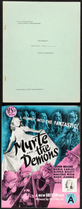 """Movie Posters:Animation, Peter Pan & Other Lot (RKO, 1953). Very Fine. Promotional Press Booklet (20 Pages, 8.5"""" X 11"""") & Uncut British Pressbook (4 ... (Total: 2 Items)"""