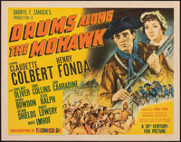 """Drums Along the Mohawk (20th Century Fox, 1939). Fine+ on Paper. Half Sheet (22"""" X 28"""") Style A. Adventure..."""