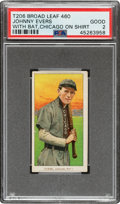 Baseball Cards:Singles (Pre-1930), 1909-11 T206 Broad Leaf 460 Johnny Evers (With Bat-Chicago) PSA Good 2 - Only Two Graded Examples for Brand/Series! ...