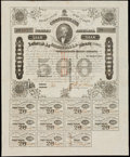 Confederate Notes:Group Lots, Ball 199 Cr. UNL $500 1863 Bond Fine-Very Fine.. ...