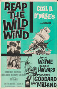 """Movie Posters:Adventure, Reap the Wild Wind & Other Lot (Paramount, R-1959). Folded, Fine/Very Fine. One Sheet (27"""" X 41"""") & Silk Screen Trinidadian ... (Total: 2 Items)"""