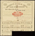 Memphis, TN- State of Tennessee Bond $1,000 1862 Cr. 62B Remainders Very Fine. ... (Total: 2 items)