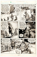 Original Comic Art:Panel Pages, Gene Colan and Dave Simons Howard the Duck Magazine #3 Story Page 21 Original Art (Marvel, 1980)....