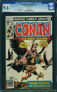 Conan the Barbarian #75 (Marvel, 1977) CGC NM+ 9.6 White pages