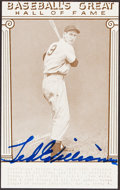 Autographs:Index Cards, Ted Williams Signed Hall of Fame Card. Offered is...