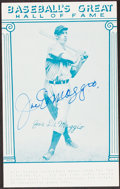 Autographs:Index Cards, Joe DiMaggio Signed Hall of Fame Card. Offered is ...