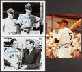 Autographs:Photos, Joe DiMaggio Signed Photographs, Lot of 3. Offered...