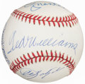 Autographs:Baseballs, Ted Williams, Mickey Mantle, Carl Yastrzemski, Frank Robinson Multi-Signed Baseball. ...