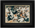 """Autographs:Photos, Pittsburgh Steelers """"Steel Curtain"""" Multi-Signed Oversized Photograph. ..."""