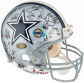Football Collectibles:Helmets, 1990s Dallas Cowboys Multi-Signed Helmet. ...