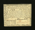 Colonial Notes:Rhode Island, Rhode Island July 2, 1780 $1 Extremely Fine-About New....