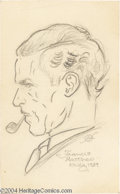 Original Comic Art:Sketches, Kelly Freas - Francis Matthew Kelly Pencil Illustration Original Art (1939). A nicely-done pencil profile of Kelly's father,...
