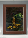 "Original Comic Art:Sketches, Kelly Freas - Analog Cover Original Art (1998). Acrylic on board with an 12"" x 16"" image area. In Excellent condition and si..."