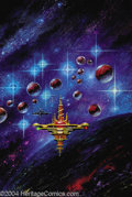 "Original Comic Art:Covers, Kelly Freas - ""Armada"" Amazing Stories Cover Original Art (1991).Acrylic on board with an 10.75"" x 16"" image area. In Excel..."