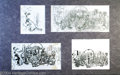 "Original Comic Art:Sketches, Kelly Freas - Analog Illustration ""The Missing Mass"" Preliminary Drawings Original Art, Group of 4 (2000). Mixed -media on p..."