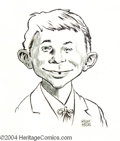 Original Comic Art:Sketches, Kelly Freas - Alfred E. Neuman Sketch (Unpublished). What, me worry? Not with this nifty sketch of Mad's mascot and main...