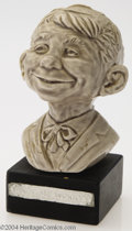 Original Comic Art:Miscellaneous, Kelly Freas - Ceramic Alfred E. Neuman Bust (circa 1960). Kelly hasmounted this glazed, ceramic bust of Alfred on a black w...