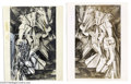 """Original Comic Art:Sketches, Kelly Freas - Canvas Confidential """"Nude Descending Staircase"""" Original Illustration (Dial Press, 1963). Here's a truly tripp..."""
