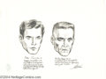 Original Comic Art:Sketches, Kelly Freas - Studies in Aging #2 Pencil Illustration Original Art(1958). Another set of head-shots with commentary on the ...