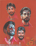 """Original Comic Art:Sketches, Kelly Freas - """"Expression Study"""" Painting Original Art (undated). Acrylic on board, 9.5"""" x 12"""", signed at the lower right. E..."""