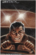 "Original Comic Art:Sketches, Kelly Freas - ""Jack Back"" Painting Original Art (undated). Acrylic on burlap painting. Image area 8.25"" x 12.75"", signed low..."