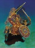 "Original Comic Art:Covers, Kelly Freas - ""The Orc Wars Books I and II: The Yngling Saga"" CoverOriginal Art (Baen Books, 1992). The Orc Wars Books I ..."