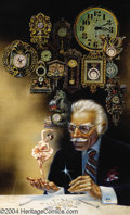 """Original Comic Art:Sketches, Kelly Freas - """"Time Keeper"""" Fantasy and Science Fiction Magazine Cover Original Art (1990). Acrylic and mixed-media collage ..."""