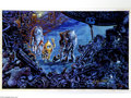 """Original Comic Art:Sketches, Kelly Freas - """"Strange Visitors"""" Painting Original Art (1990). Acrylic on board, 16.25"""" x 10.25"""", signed at the lower right...."""