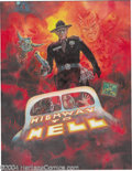 """Original Comic Art:Sketches, Kelly Freas - """"Highway to Hell"""" Comprehensive Movie Poster Painting Original Art (1992). Acrylic on board, 10.5"""" x 13.5"""", si..."""