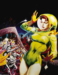 "Original Comic Art:Miscellaneous, Kelly Freas - ""Riot"" Poster Color Proof (undated). Kelly commented on this image inFrank Kelly Freas As He Sees It, ""Not..."