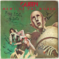"Original Comic Art:Miscellaneous, Queen - ""News of the World"" Signed Album (EMI, 1977). All fourmembers of Queen, including the late Freddy Mercury signed th..."