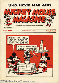 Mickey Mouse Magazine V1#1 (Walt Disney Productions, 1933) Condition: FN. This cute little comic is one of a variety of...