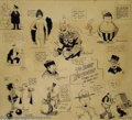 Original Comic Art:Sketches, Harry Houdini Tribute Specialty Piece with 13 Sketches Original Art(1918). Here's a spectacular specialty piece; thirteen o...