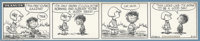 Charles Schulz - Peanuts Daily Comic Strip Original Art, dated 8-10-54 (United Feature syndicate, 1954). Patty chides 'P...