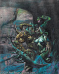 Original Comic Art:Covers, Simon Bisley - Melting Pot Book Three Cover Painting Original Art(Kitchen Sink, 1994). Simon Bisley exploded onto the comic...