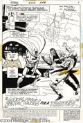 Original Comic Art:Splash Pages, Bob Brown and Dick Giordano - Batman #248 page 1 Original Art (DC,1973). On the deck of a vintage aircraft carrier, Batman ...