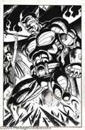 Original Comic Art:Splash Pages, John Byrne and George Perez - Colossus Pin Up Original Art(1993-2003). Bozhe moi, tovarich! Colossus of the X-Men isbe...