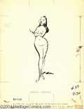 "Original Comic Art:Splash Pages, Jack Cole - Playboy, July, 1956 Illustration Original Art (Playboy,1956). A ""Femme Fatale"" has cut victory-notches in her t..."