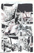 Original Comic Art:Panel Pages, Kieron Dwyer and Rick Remender - The Avengers #57, page 13 OriginalArt (Marvel, 2002). It's mayhem in the streets as Iron M...
