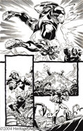 Original Comic Art:Panel Pages, Kieron Dwyer and Rick Remender - The Avengers #60, page 19 OriginalArt (Marvel, 2003). This stunning all-out action page fe...
