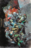 Original Comic Art:Splash Pages, Kevin Eastman and Simon Bisley - Mutant Chronicles #2 CoverOriginal Art (Kitchen Sink, 1993). A spectacular battle scene fr...