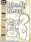 Original Comic Art:Covers, Bill Hudson (Attributed) - Friendly Ghost #1 Unused Cover OriginalArt (Harvey, 1956). Here's one that's been a real puzzler...