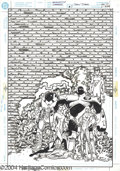 Original Comic Art:Covers, Dan Jurgens - Teen Titans #7 Cover Original Art (DC, 1997). In therarified reality of comics, has there ever been a brick w...