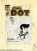 Original Comic Art:Covers, Warren Kremer - Little Dot #44 Cover Original Art (Harvey, 1959).Little Dot runs from the Mad Hatter, who rides a -- what...