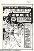 Original Comic Art:Covers, Joe Kubert - Superhero Catalog Cover Original Art (circa 1970s).Spectacular cover artwork for one of the superhero merchand...