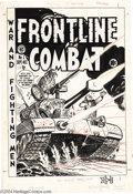 Original Comic Art:Covers, Harvey Kurtzman - Frontline Combat #2 Cover Original Art (EC, 1951). Hang on to your helmets, art troopers! Here's an explos...