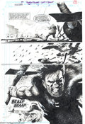 Original Comic Art:Splash Pages, Val Mayerik - Original Art for Punisher #79, pages 19 and 20(Marvel, 1993). A spectacular 3-panel double-page spread gets u...