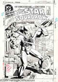 Original Comic Art:Covers, Jerry Ordway - All-Star Squadron #28 Cover Original Art (DC, 1983). The Justice Society of America faces a king-size challen...